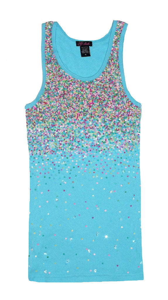 Tank with Neon Sequin Scattering