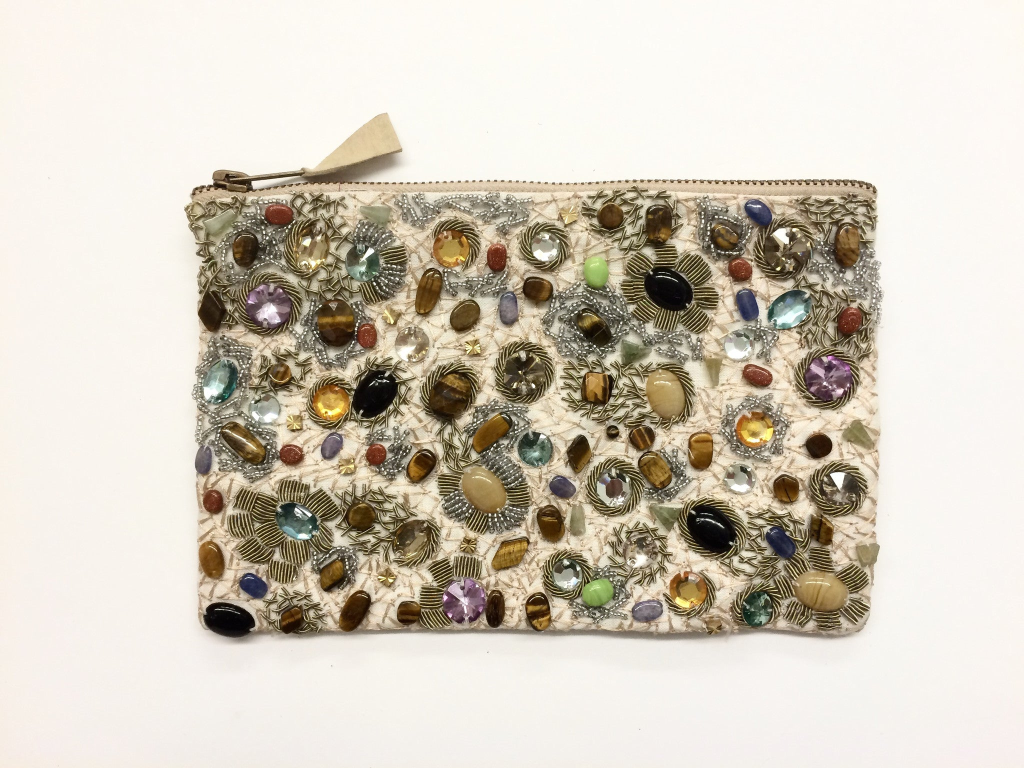 Zipper Pouch With Beading