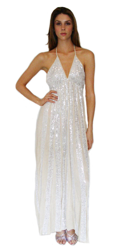 Long Sundress with Sequins