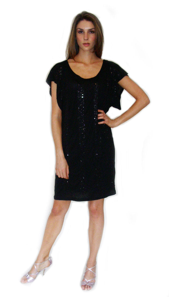 Boxy Dress with Keyhole Back
