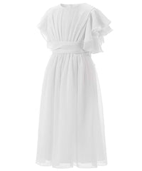 AbaoWedding Fancy Chiffon Flutter Sleeves Flower Girl Dresses - AbaoWedding