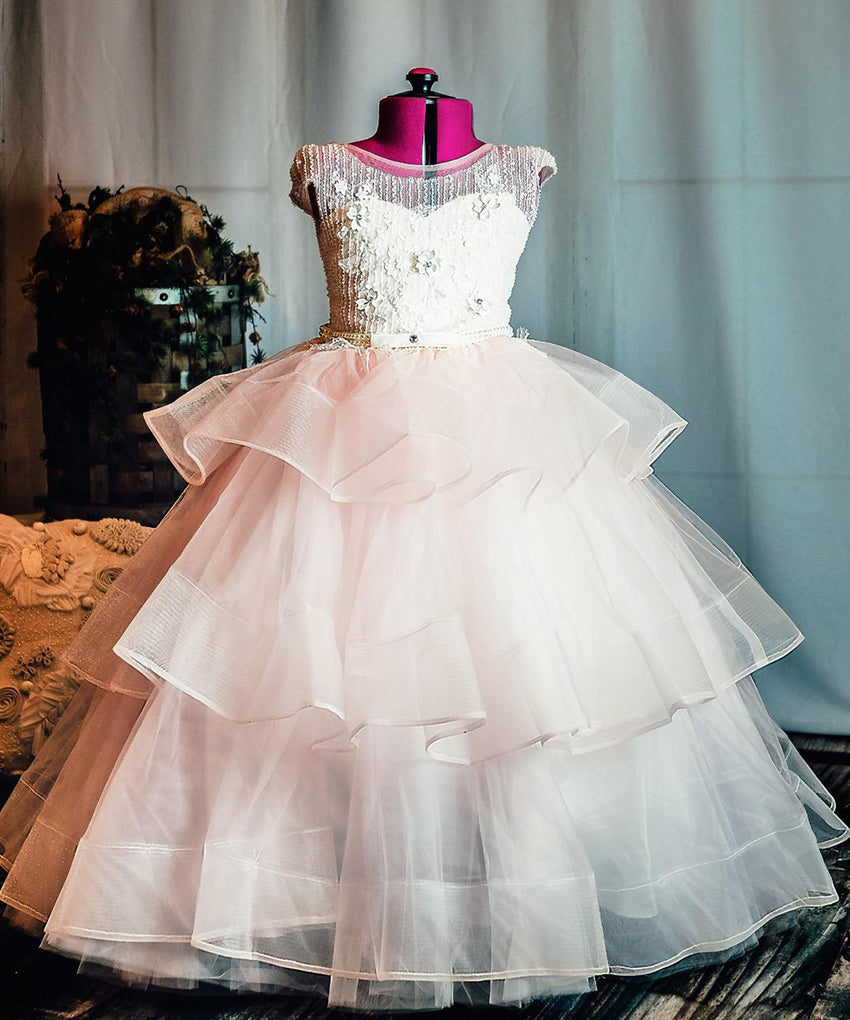 AbaoWedding Long Little Girls Pageant Dresses for Wedding Kids First Communion Prom Ball Gown