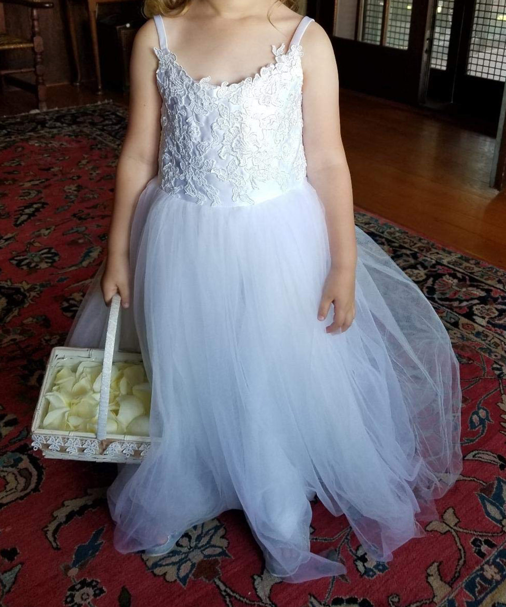 AbaoWedding Flower Girls Lace Tulle Ball Gowns First Communion Dresses