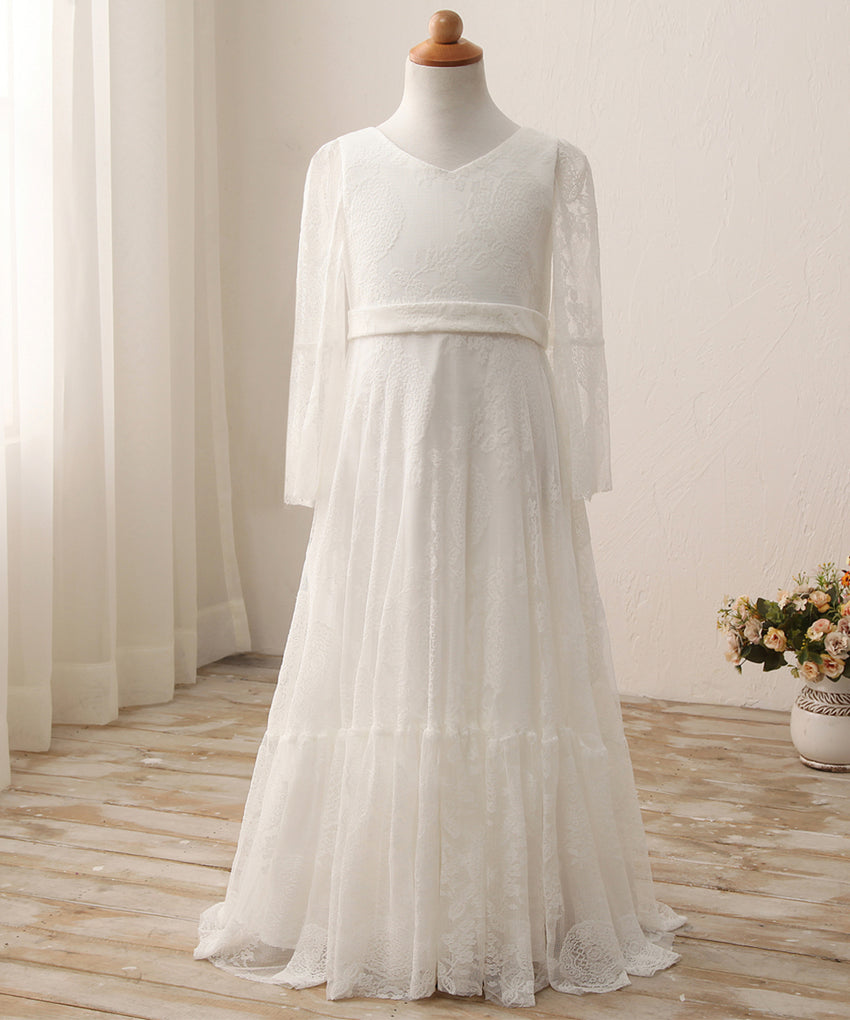 AbaoWedding  Fancy A-line Lace Flower Girl Dress 2-12 Year Old