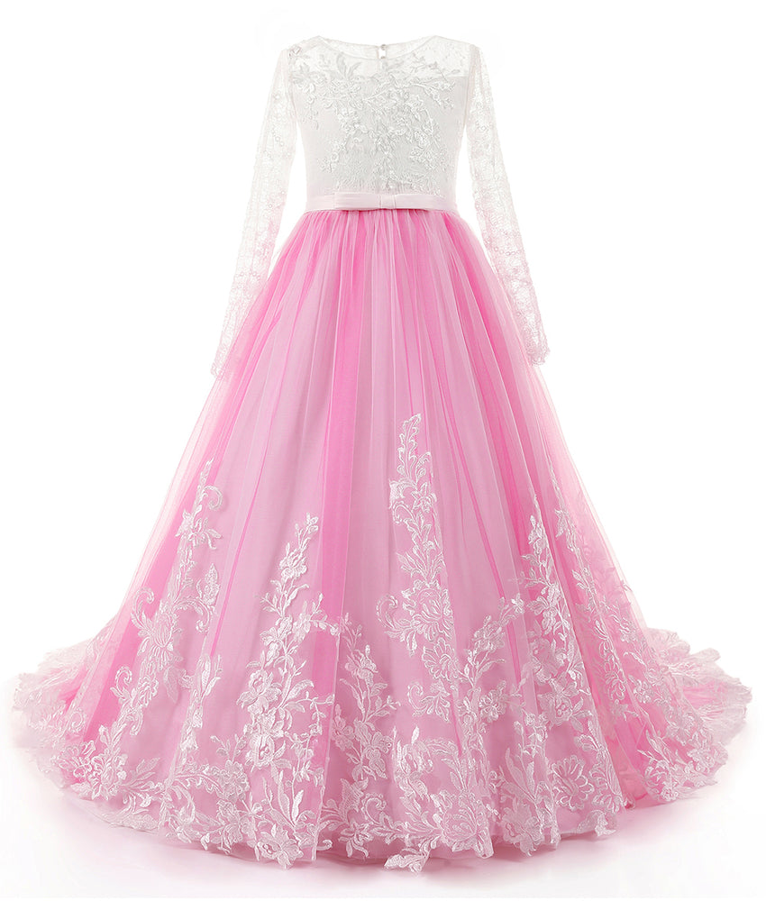 AbaoWedding Fabulous Long Pageant Dresses for Girls Prom Ball Gowns - AbaoWedding