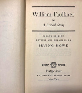 William Faulkner A Critical Study