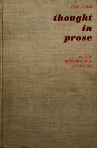 Thought In Prose - Third Ed.