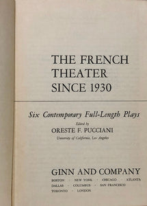 The French Theater Since 1930