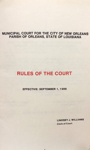 Rules of The Court