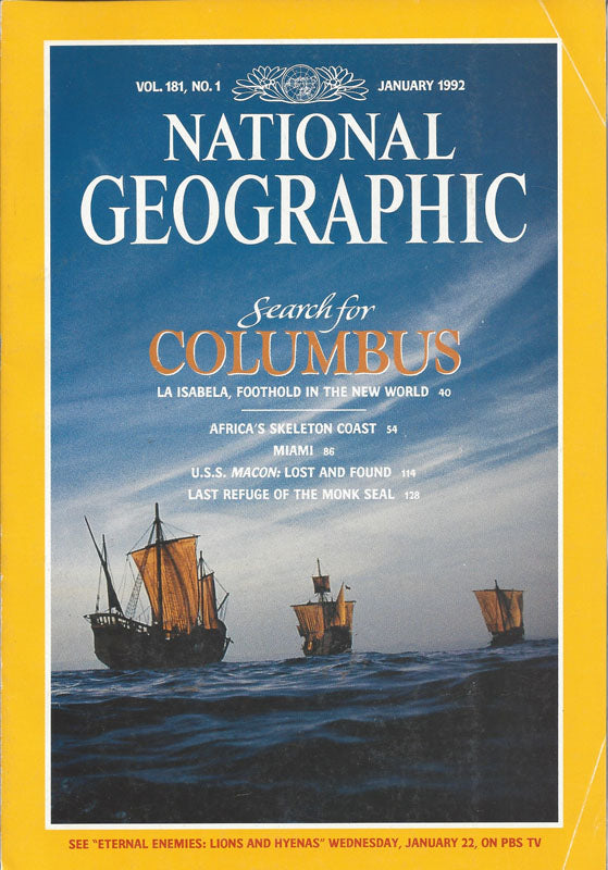 National Geographic: Jan. 1992