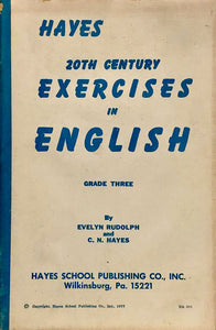 Hayes 20th Century Exercises in English - Grade Three