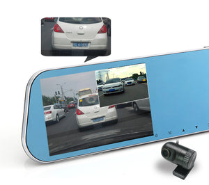 "KDLINKS® R100 ULTRA HD 1296P FRONT + 1080P REAR 280° SUPER WIDE ANGLE REARVIEW MIRROR CAR DASH CAM WITH IPS HD 5"" SCREEN, G-SENSOR & SUPERIOR NIGHT MODE, 1 YR DASHCAM WARRANTY, SUPPORT 64/128GB CARD - KDLINKS Electronics"