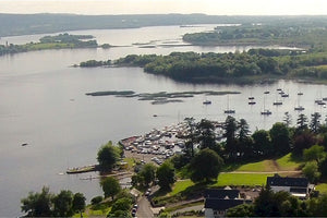 Aerial view of Lough Derg East Clare