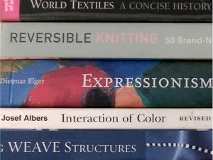 Books for inspiration and designing scarves