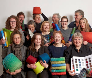Staff McKernan Woollen Mills colourful smiles