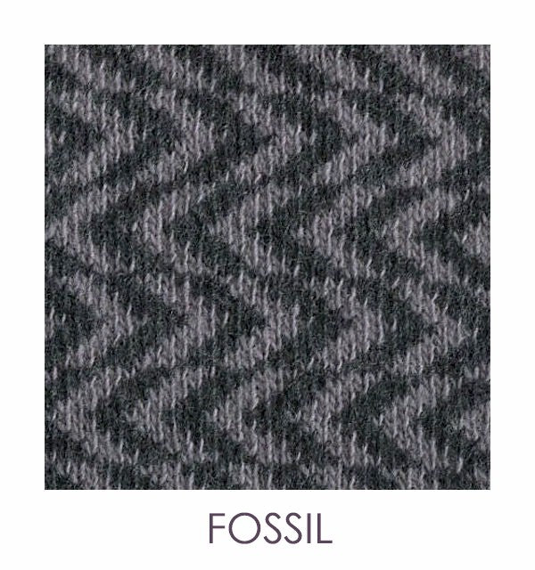 ZORRO - a scarf knitted from cashmere and wool with a horizontal herringbone design.