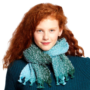 ASTRAKHAN – A woven wool and alpaca scarf made by McKernan in Ireland.