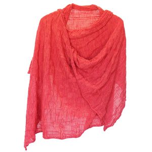 KIMIKO - a lightweight knitted wrap, perfect for summer evenings.