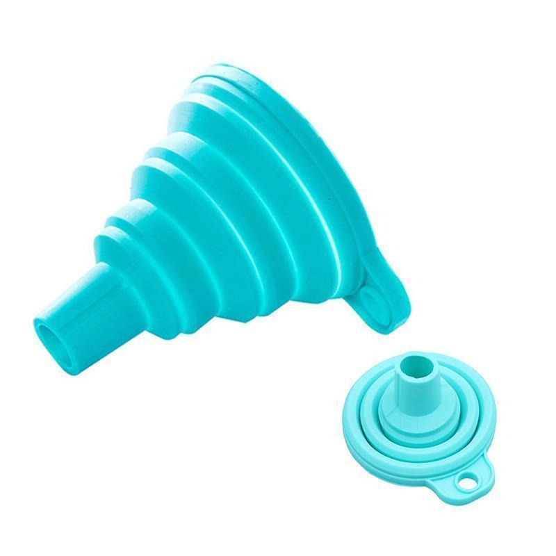 Silicone Gel Foldable Funnel Hopper(2 PCS)