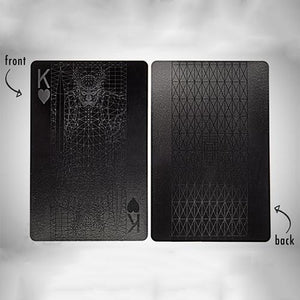 Waterproof Black Plastic Poker Cards(1 Set)
