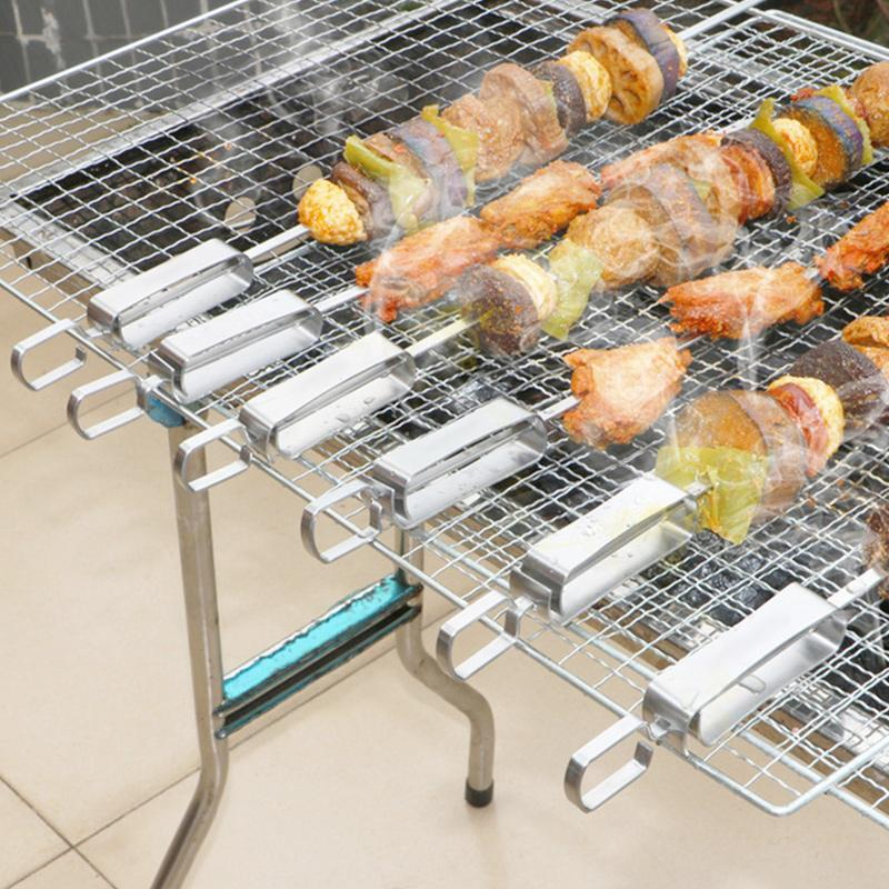 Stainless Steel BBQ Skewers (6pcs/Pack)