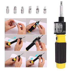 6 in 1 Screwdriver - 360 Degree Twist Bit