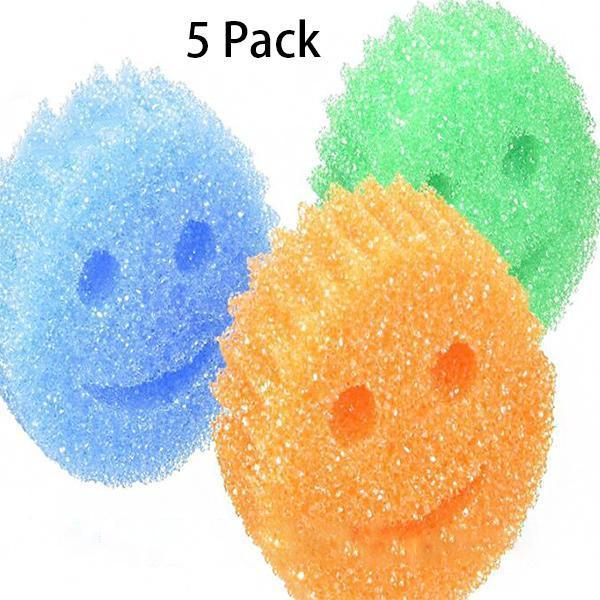 Multifunction Smiley Strong Clean Sponge(5 Pack)