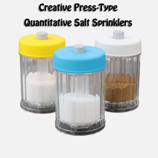 Creative Press-Type Quantitative Salt Sprinklers