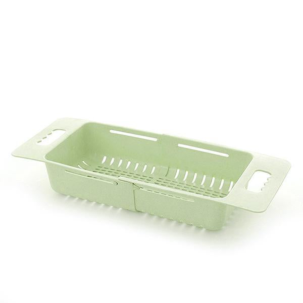 Adjustable Retractable Drain Basket - Plastic Multifunctional Sink Draining Rack - Vegetable Fruit Washing Storage Basket