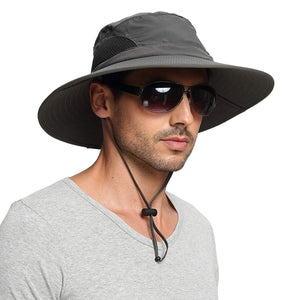 Sun Protection Wide Brim Bucket Hat