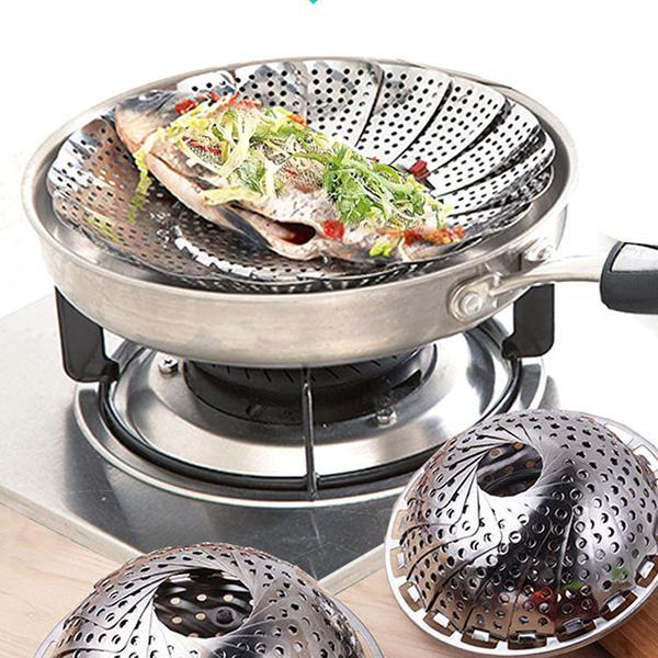 Folding Telescopic Steamer Cookware