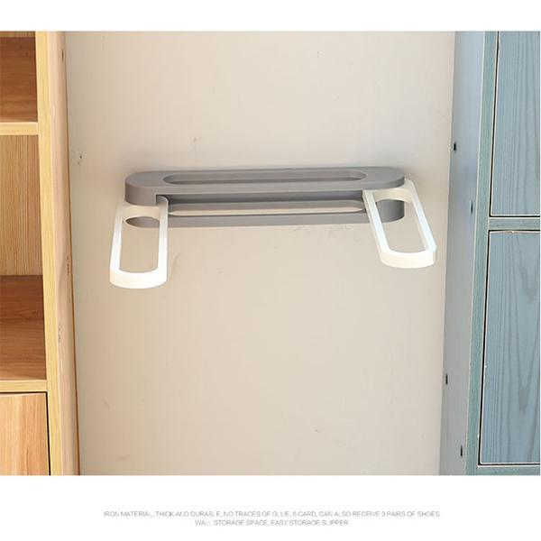 Wall Mounted Folding Slippers Rack