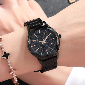 Starry Sky Waterproof Stainless Steel Strip Watch