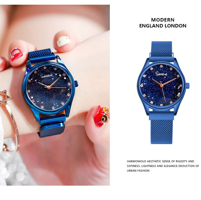 Women Magnetic Chain Starry sky watches