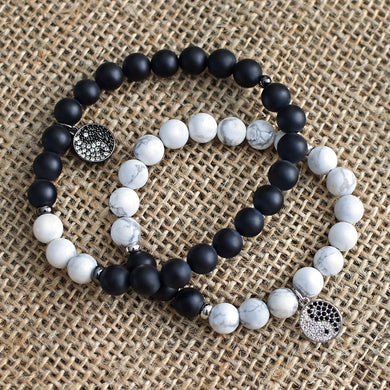 BELOVED Onyx & White Turquoise Bracelet - Shop Realign