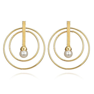 Entwined Gold & Pearl Earrings - Shop Realign
