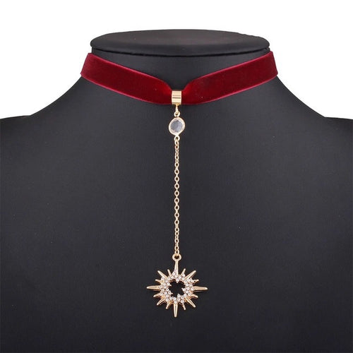 Retrograde Sun Red Choker Necklace - Shop Realign