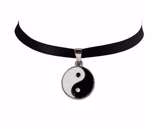Ying & Yang Black Choker Necklace - Shop Realign