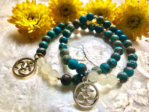 INSPIRED ACTION ~ BLUE JASPER x FOSSIL JADE BRACELETS - Shop Realign