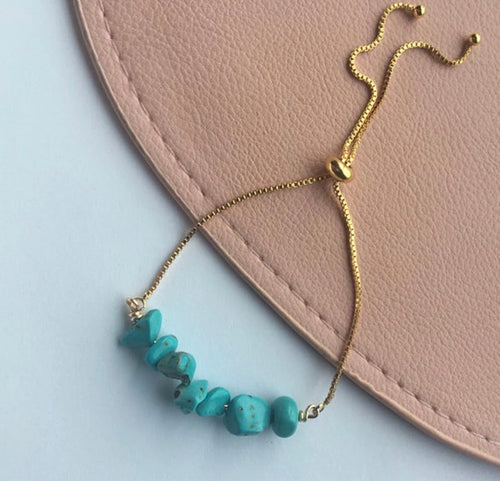 Belle - Turquoise Adjustable Bracelet - Shop Realign