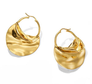 Ripple 14k Hoop Earrings - Shop Realign