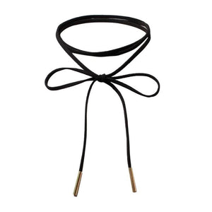 Tying Up Loose Ends Choker Black Necklace - Shop Realign