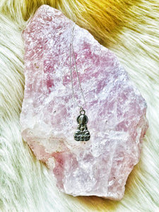 Tibetan Buddha Silver Necklace - Shop Realign