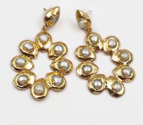 Baroque Pearl Perfection 24K Earrings - Shop Realign
