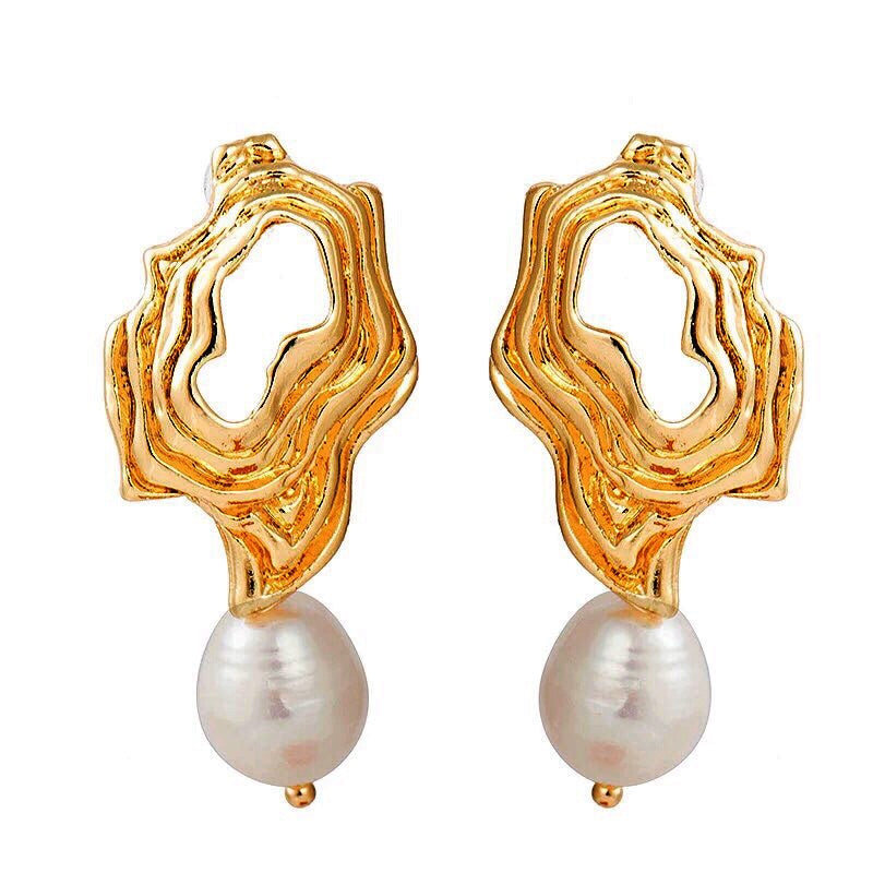 Hello Darling  Baroque Pearl 14K Earrings - Shop Realign