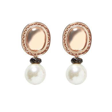 Newport  Pearl And Gold Earrings - Shop Realign