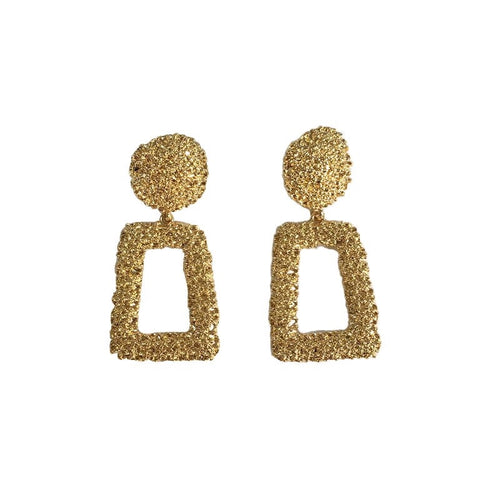 Textured Trapezoid Earrings - Shop Realign