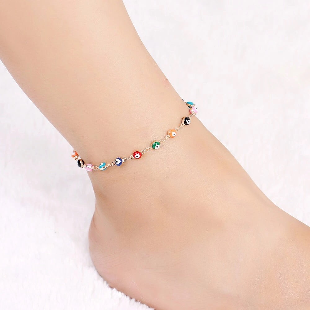 Tropical Lucky Eye Anklet - Shop Realign