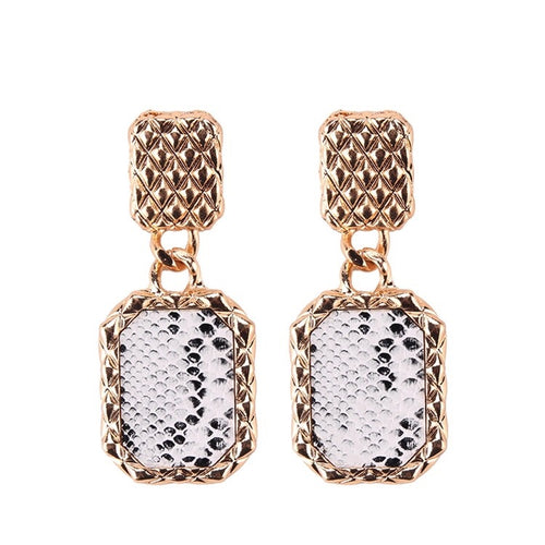 Ines Head Turning Python Drop Earrings - Shop Realign