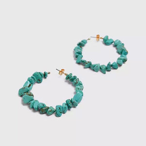 Turquoise Hoops - Shop Realign